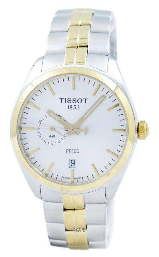 Tissot T-Classic PR 100 Dual Time Quartz T101.452.22.031.00 T1014522203100 Men's Watch