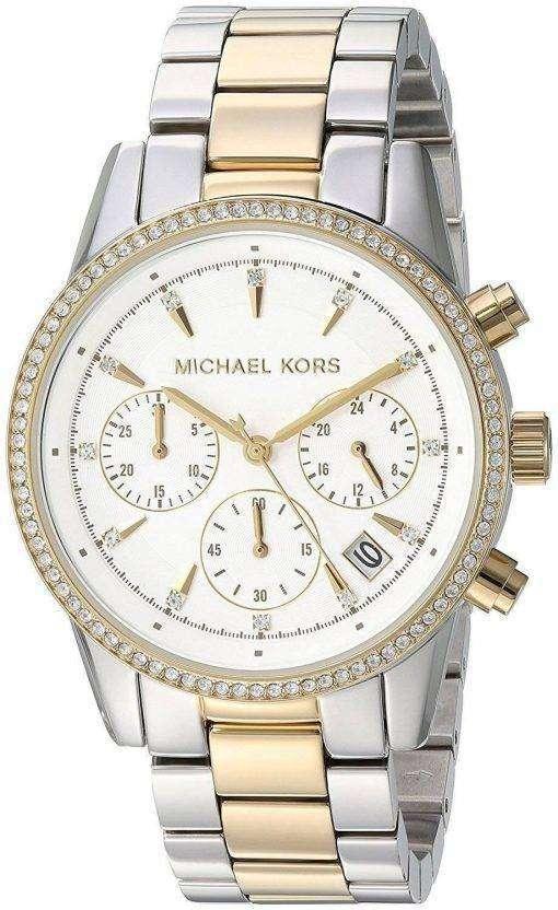 Michael Kors Ritz Chronograph Quartz Diamond Accent MK6474 Women's Watch