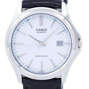 Casio Quartz Analog White Dial Black Leather MTP-1183E-7ADF MTP-1183E-7A Mens Watch