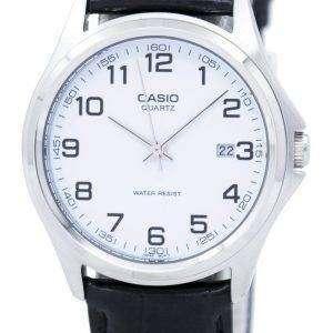 Casio Quartz Analog White Dial Black Leather MTP-1183E-7BDF MTP-1183E-7B Mens Watch
