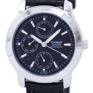 Casio Enticer Quartz Multi Dial Leather Strap MTP-1192E-1ADF MTP-1192E-1A Mens Watch