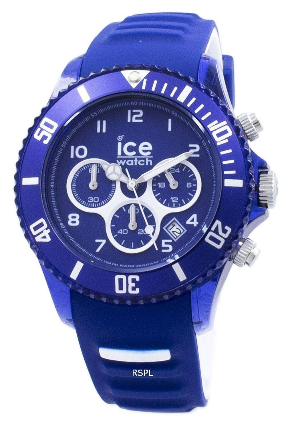 Ice aqua marine large chronograph quartz 012734 men 39 s watch for Aqua marine watches