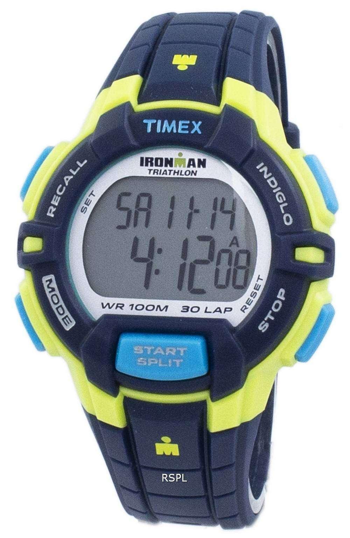 2b415389a76d Timex Sports Ironman Triathlon Rugged 30 Lap Indiglo Digital T5K814 Men s  Watch