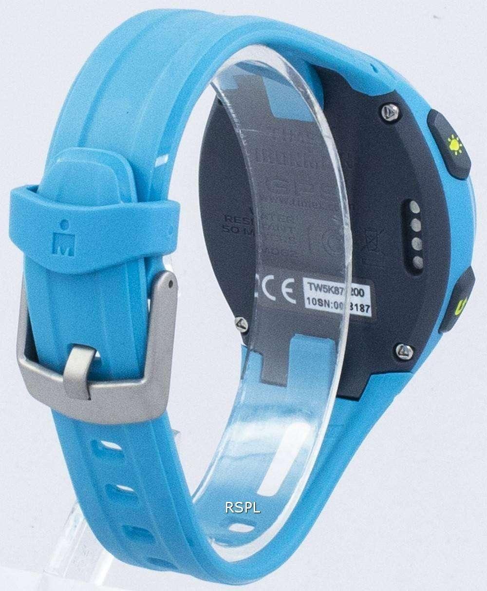 c87553303 Timex Ironman Run X20 GPS Indiglo Digital TW5K87600 Unisex Watch ...