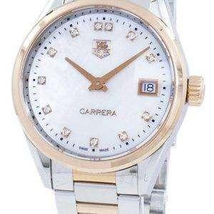 Tag Heuer Carrera Quartz Diamond Accents WAR1352.BD0779 Women's Watch