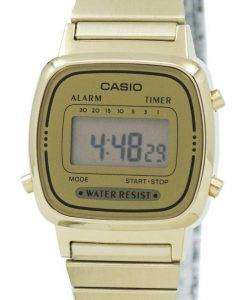 Casio Digital Stainless Steel Alarm Timer LA670WGA-9DF LA670WGA-9 Womens Watch