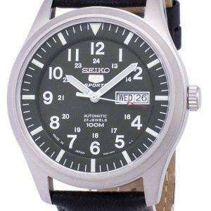 Seiko 5 Sports Automatic Japan Made Ratio Black Leather SNZG09J1-LS10 Men's Watch