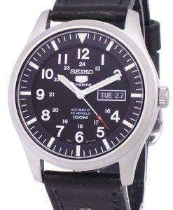 Seiko 5 Sports Automatic Ratio Black Leather SNZG15K1-LS8 Men's Watch