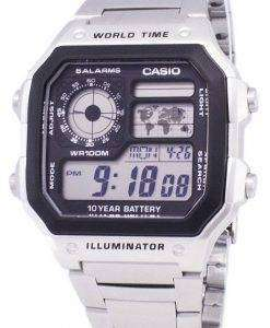 Casio Digital World Time WR100M AE-1200WHD-1AVDF AE-1200WHD-1AV Mens Watch