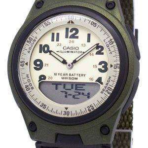 Casio Analog Digital Telememo Illuminator AW-80V-3BVDF AW-80V-3BV Mens Watch