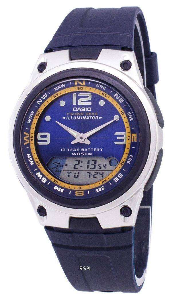Casio Analog Digital Out Gear Fishing Illuminator AW-82-2AVDF AW-82-2AV Mens Watch
