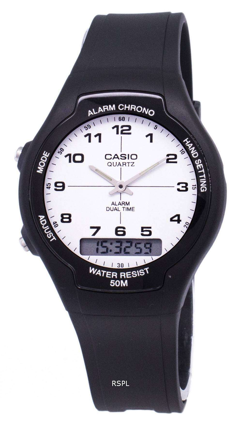 Tag Heuer Uk >> Casio Analog Digital Dual Time AW-90H-7BVDF AW-90H-7BV Mens Watch - CityWatches.co.uk