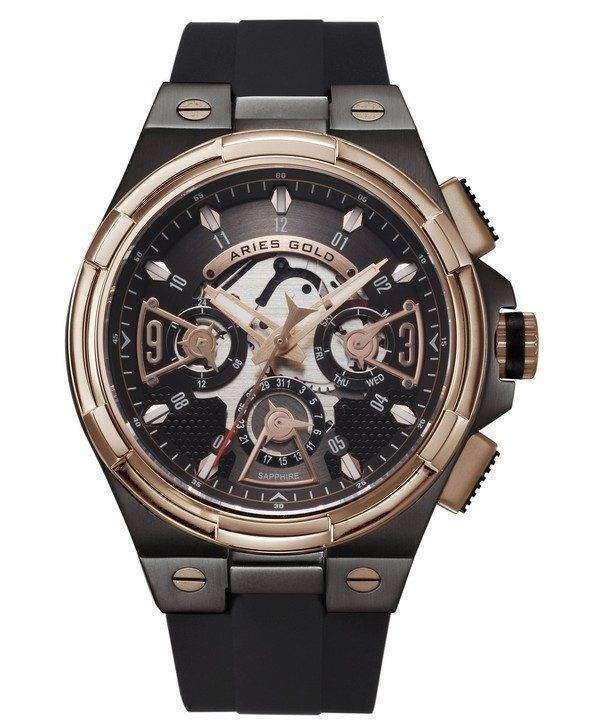 Aries Gold Inspire Lightning Quartz G 7003 BKRG-BKRG Men's Watch