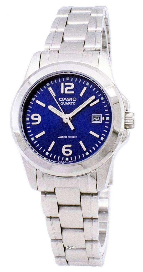 Casio Analog Quartz Blue Dial LTP-1215A-2ADF LTP-1215A-2A Womens Watch