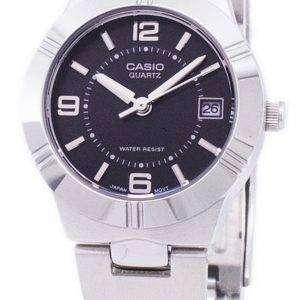 Casio Enticer Analog Quartz Black Dial LTP-1241D-1ADF LTP-1241D-1A Womens Watch