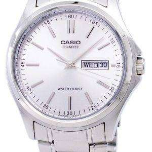 Casio Enticer Quartz Analog Silver Dial MTP-1239D-7ADF MTP-1239D-7A Mens Watch