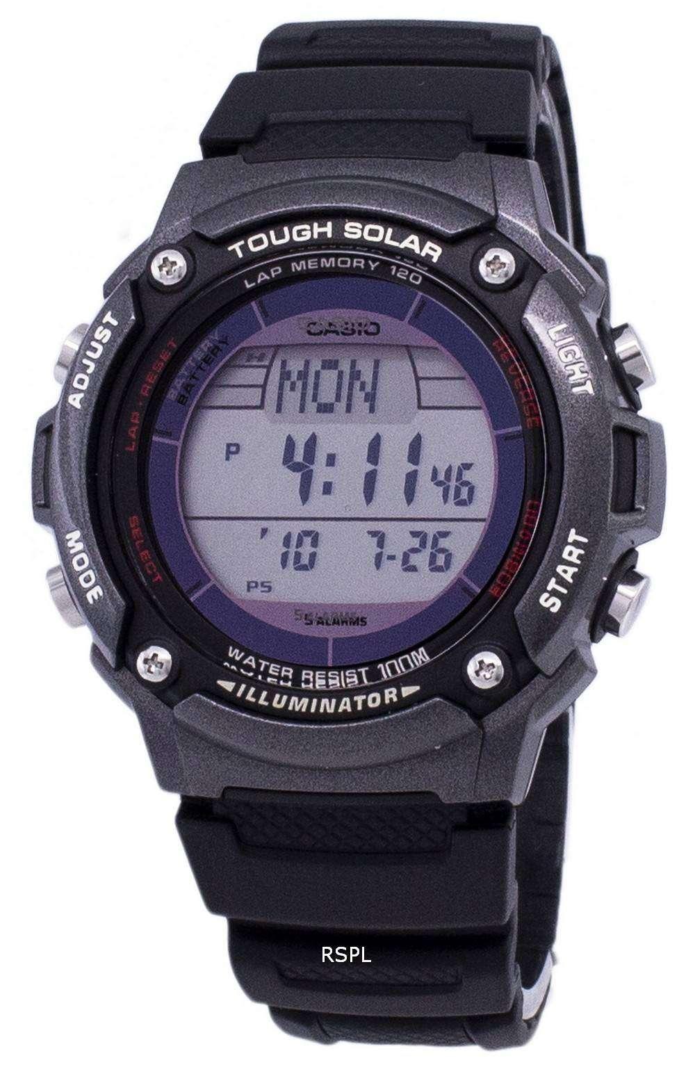 Casio Digital Tough Solar 5 Alarms Illuminator W S200h