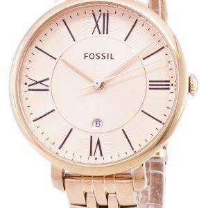 Fossil Jacqueline Rose Gold-Tone Analog ES3435 Womens Watch