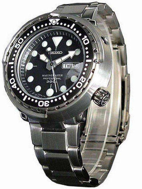 Seiko Mens Watch MarineMaster Professional 300M Diver Quartz SBBN017