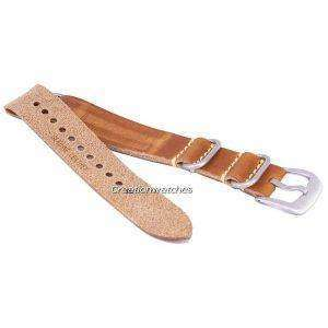 Brown Ratio Brand Leather Strap 20mm