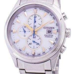 Citizen Eco-Drive Titanium Chronograph Tachymeter CA0650-82B Men's Watch
