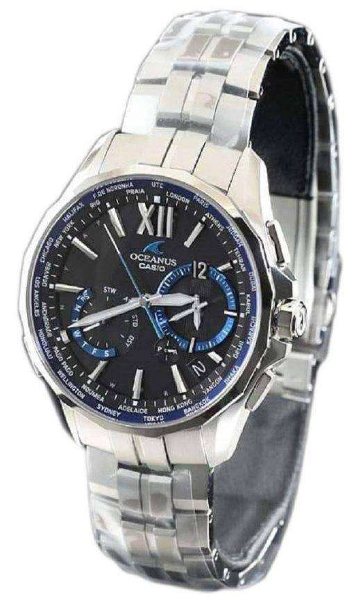 Casio Oceanus OCW-S3400-1AJF Manta Wave Ceptor Japan Made Men's Watch