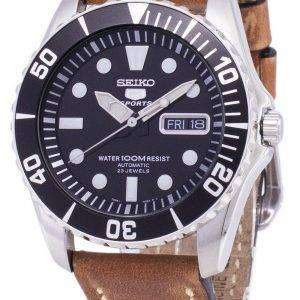 Seiko 5 Sports SNZF17K1-LS17 Automatic Brown Leather Strap Men's Watch
