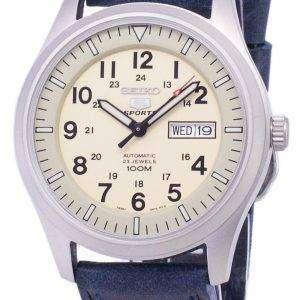 Seiko 5 Sports SNZG07K1-LS13 Automatic Dark Blue Leather Strap Men's Watch