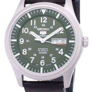 Seiko 5 Sports SNZG09K1-LS14 Automatic Black Leather Strap Men's Watch
