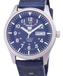 Seiko 5 Sports SNZG11K1-LS13 Automatic Dark Blue Leather Strap Men's Watch