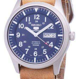 Seiko 5 Sports SNZG11K1-LS18 Automatic Brown Leather Strap Men's Watch