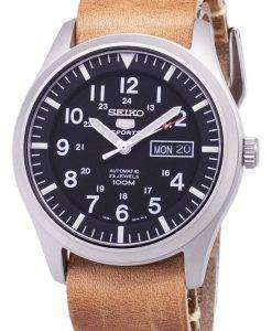 Seiko 5 Sports SNZG15K1-LS18 Automatic Brown Leather Strap Men's Watch