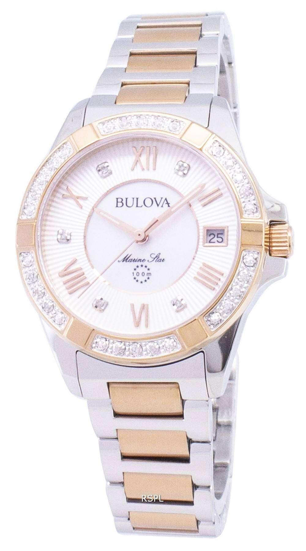 70283d77188 Bulova Marine Star 98R234 Diamond Accent Quartz Women s Watch ...