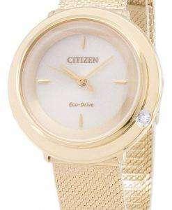 Citizen L Eco-Drive EM0642-87P Analog Diamond Accents Women's Watch