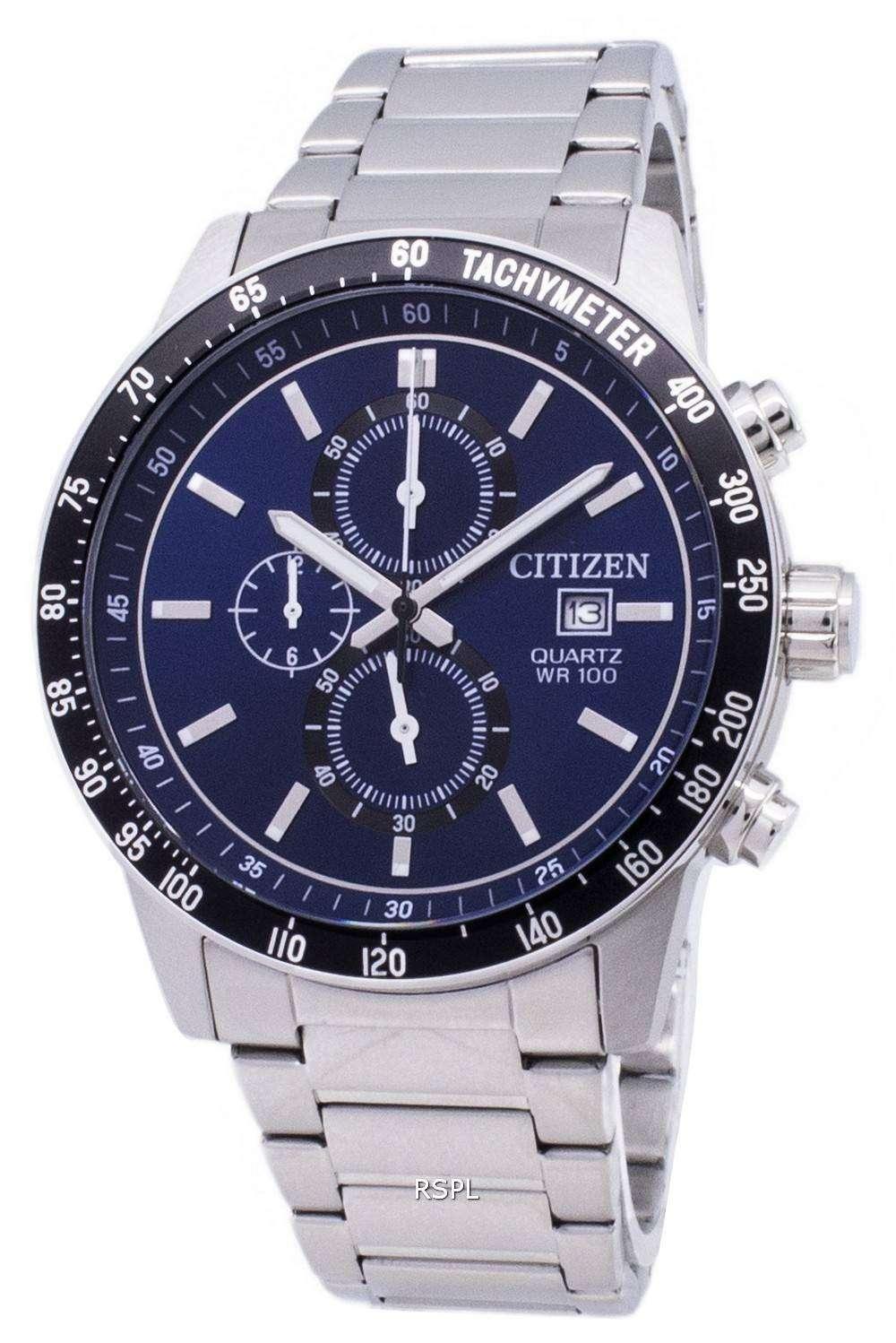 citizen chronograph an360059l tachymeter quartz mens