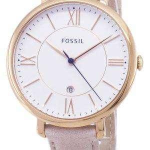 Fossil Jacqueline Quartz Blush Leather Strap ES3988 Womens Watch