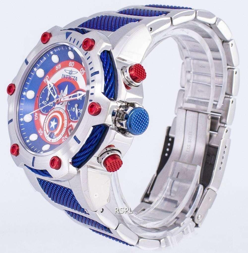 Maserati For Sale >> Invicta Marvel 25780 Captain America Limited Edition Chronograph Quartz Men's Watch ...