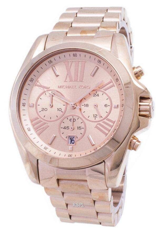 Michael Kors Bradshaw Chronograph Rose Gold-tone MK5503 Womens Watch