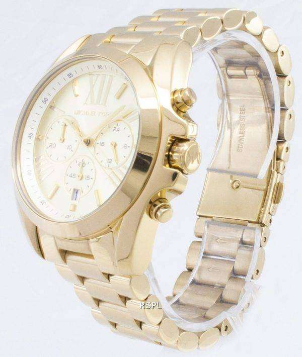 Michael Kors Bradshaw Chronograph Gold-Tone MK5605 Unisex Watch