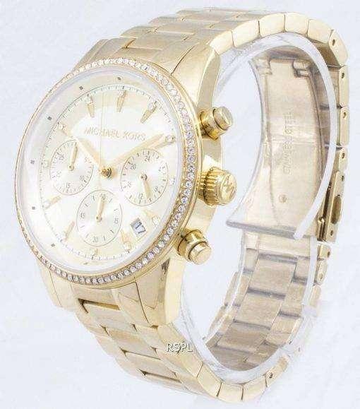 Michael Kors Ritz Chronograph Quartz Diamond Accents MK6356 Women's Watch