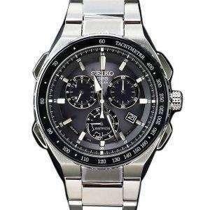Seiko Astron SBXB129 GPS Solar Titanium Power Reserve Chronograph Men's Watch
