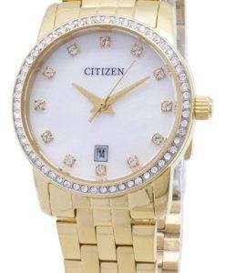 Citizen Quartz EU6032-51D Analog Diamond Accents Women's Watch