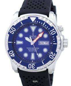 Ratio II Free Diver Helium-Safe 1000M Automatic 1068HA90-34VA-01 Men's Watch