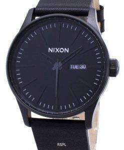 Nixon Quartz Sentry Black Leather A105-001-00 Men's Watch