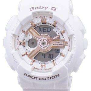 Casio Baby-G BA-110RG-7A BA110RG-7A World Time Shock Resistant Women's Watch