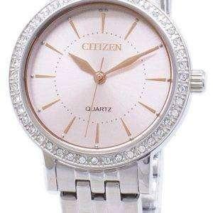 Citizen Quartz EL3041-87X Analog Diamond Accent Women's Watch