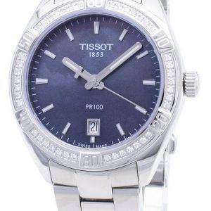 Tissot T-Classic PR 100 Lady Sport T101.910.61.121.00 T1019106112100 Diamond Accents Quartz Women's Watch