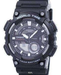 Casio Telememo 30 World Time Alarm Analog Digital AEQ-110W-1AV AEQ110W-1AV Men's Watch