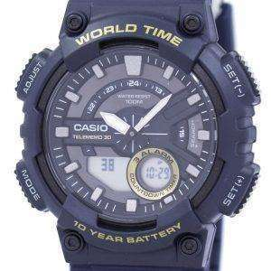 Casio Telememo 30 World Time Alarm Analog Digital AEQ-110W-2AV AEQ110W-2AV Men's Watch