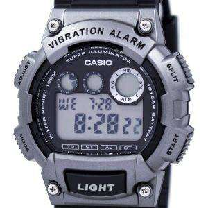 Casio Super Illuminator Dual Time Vibration Alarm Digital W-735H-1A3V W735H-1A3V Men's Watch